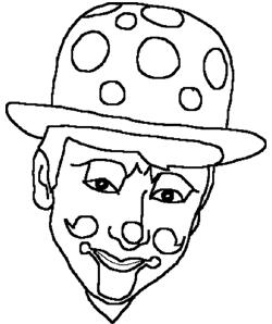 Dessin Du Clown Verso A Colorier Blog Des Clowns Recto Verso